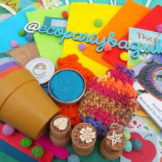 Eco party bags dont need to be brown and boring Party Bags, Eco Friendly, Birthday Cake, Brown, Desserts, Food, Birthday Cakes, Meal, Deserts