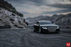 Black Audi, Vossen Wheels, Audi S5, Thing 1, All Cars, My Ride, Car Car, Santa Monica, Exotic Cars