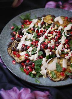 Epplant salad with tahini-yoghurt dressing