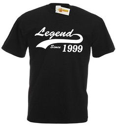 Legend 1999 T-Shirt, mens 18th birthday gifts presents, gift ideas for men boys | T-Shirts | Men's Clothing - Zeppy.io