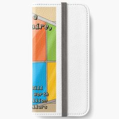 'I'm a billionaire ' iPhone Wallet by Bill Gates, Iphone Wallet, Billionaire, Art Prints, Printed, Awesome, Shop, Stuff To Buy, Products