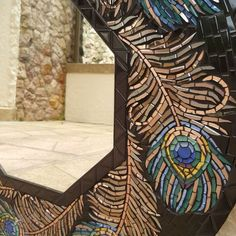 """Anna Abramova Dela Cruz on Instagram: """"Here is the video of my """"Peacock Feathers"""" mosaic mirror, so you could see all the brightness of the colors and the reflection of mirrored…"""" Mosaic Diy, Mosaic Ideas, Diy Mirror, Mirror Work, Peacock Mirror, Mosaic Birds, Mosaic Mirrors, Peacock Feathers, Peacocks"""