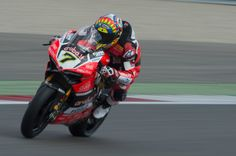 Chaz Davies of Great Britain and ARUBA.IT RACING-DUCATI heads down a straight during the FIM World Superbike Championship Assen - Race 1 on April 29, 2017 in Assen, Netherlands.