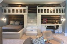 Coolest Bunk Room Ever at the Southern Living Showcase Home in Montgomery, TX #bunkbeds #bunkroom #bedroom