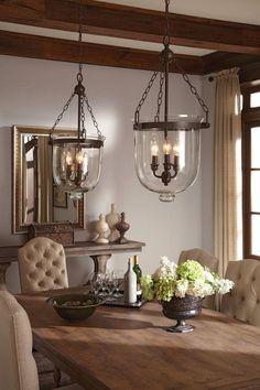 Farmhouse dining room #FarmhouseLamp