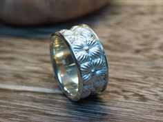Band style ring also from the Hearst Castle Collection. Sterling Sliver with a matte finish.