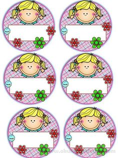 Badges for Kindergarten Children - Preschool Children Akctivitiys