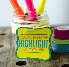 Last minute Teacher Appreciation gifts with free downloads