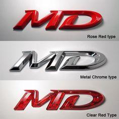 High Quality Car 3D Emblem Select one 3 type Detailpart for Hyundai Elantra MD #Detailpart