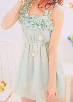 Art seafoam green dress my-style Mint Dress, Green Dress, Dress Up, Ruffle Dress, Dress Long, Babydoll Dress, Ruffle Top, Diy Vetement, Looks Cool