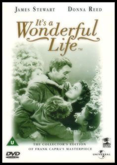 """It's a Wonderful Life directed by Frank Capra, starring James Stewart, Donna Reed and Lionel Barrymore. """"An angel helps a compassionate but despairingly frustrated businessman by showing what life would have been like if he never existed. Christmas Music, Christmas Movies, Christmas Eve, Holiday Movies, Vintage Christmas, Old Movies, Great Movies, Amazing Movies, Movie Photo"""