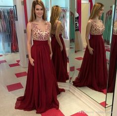 Latest Fashion V-Neck Arabic Evening Dresses A-line Chiffon Dark Red Beaded Custom Made Hot Elegant Long Chiffon Party Prom Dresses Online with $82.1/Piece on Weddingpalace's Store | DHgate.com