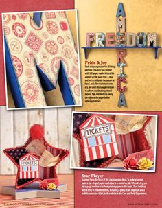 these patriotic paper mache letters are as easy as apple pie to create