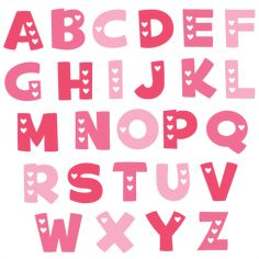 Valentine Alphabet SVG cut files valentine alphabet svg cuts free svg files free…