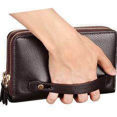 Large Zipper Organizer Clutch Business Men Wallet - cheapsalemarket