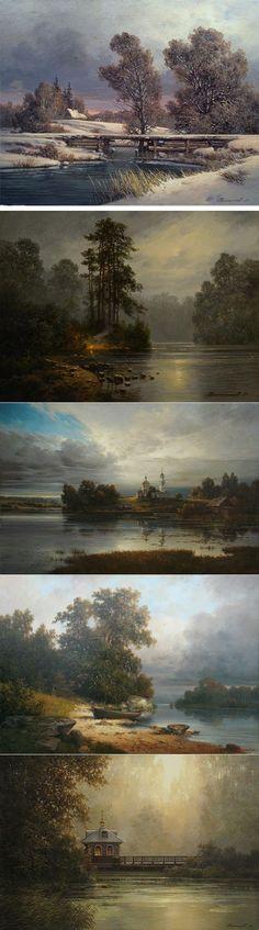 Художник Дмитрий Колпашников|Русские пейзажи