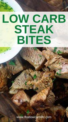 Carb Free Recipes, Quick Recipes, Beef Recipes, Cooking Recipes, Healthy Recipes, Healthy Meals, Low Carb Menus, Low Carb Diet Plan, Steak Bites