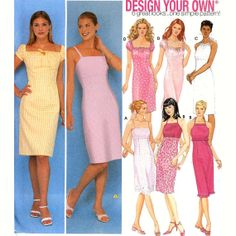 Summer dress pattern Design your own dress sewing pattern Simplicity 9557