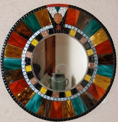Mosaic Mirror Stained Glass Goddess by Schilltill on Etsy, $90.00