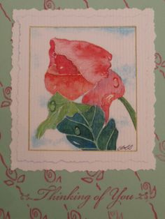 Morning Dew by TheAppleseedLane on Etsy, an original watercolor painting card print