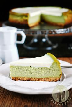 Sernik z herbatą matcha Matcha, Cheesecake, Fit, Shape, Cheese Cakes, Cheesecakes