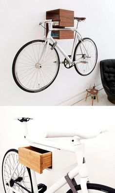Bicycle bike storage rack Cool Gifts and Office Products for Web Designers & Geeks - Image 2 Hanging Bike Rack, Bicycle Storage Rack, Indoor Bike Storage, Bicycle Hanger, Indoor Bike Rack, Storage Racks, Overhead Storage, Bike Hanger Wall, Extra Storage