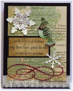 Prickley Pear Rubber Stamps: Holly & Berries Clearly Beautiful Stamp Set, First Day of Christmas