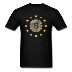 700533f38 Fashion Digital Currency Bitcoin Logo Funny Brand Clothing T Shirt Men  Women Funny Short Sleeve O
