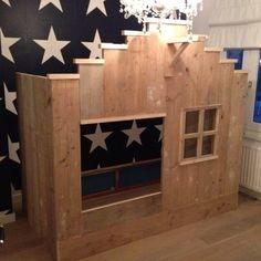 Scaffolding wood/barn wood loft bed frame