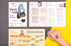 Visual identity, illustrations and promotional video. Uovokids is a festival for children curated by creative people who do not usually work with children. Year: 2015.