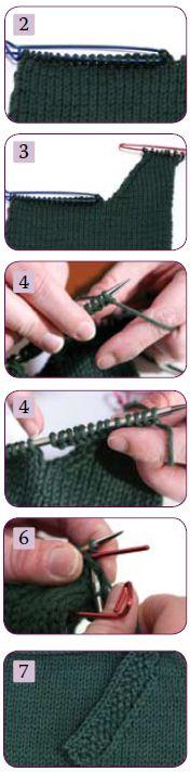 Three tutorials on knitting pockets