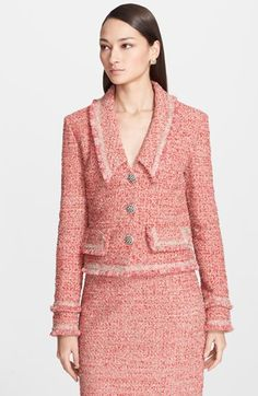 St. John Collection Multi Eyelash Sparkle Knit Jacket available at #Nordstrom