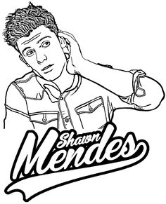 Shawn Mendes free, printable coloring page Wwe Coloring Pages, Tumblr Coloring Pages, Super Coloring Pages, Mermaid Coloring Pages, Free Printable Coloring Pages, Coloring Pages For Kids, Coloring Books, Shawn Mendes Age, Shawn Mendes Photoshoot