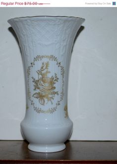 30 off vintage kaiser west germany white and gold  by capecodgypsy, $52.50