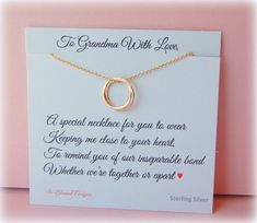 Grandmother Necklace Grandma Gift Gifts For New Inseparable Jewelry