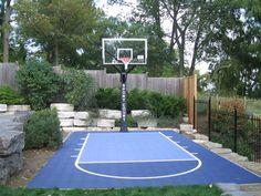 Backyard Sports, Backyard For Kids, Backyard Projects, House Projects, Backyard Ideas, Terrain Basket, Outdoor Basketball Court, Basketball Hoop, Garden Deco