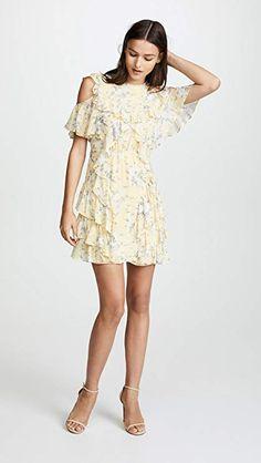 9c0dadddd35 Amazon.com  Rebecca Taylor Women s Open Shoulder Lemon Dress