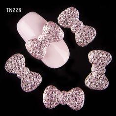 Kebiruan 10 pcs/lot 3d nail art pesona perhiasan, Rhinestones perekat dekorasi untuk manicure desain akrilik busur kuku, Seni TN228