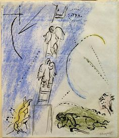 """Study to """"The Jacob's Dream"""" by @artistchagall"""