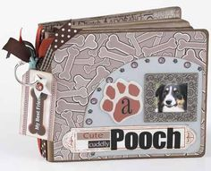 dog mini chipboard scrapbook