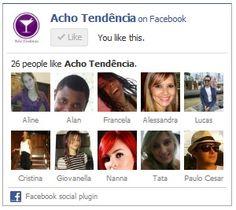 Acho Tendência no Facebook - Acho Tendencia