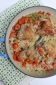 One Pot Chicken and Rice is so easy and your house will smell amazing!