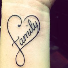 Could do forever like this, unique family in heart tattoo on wrist - family tattoo quote hollow heart-