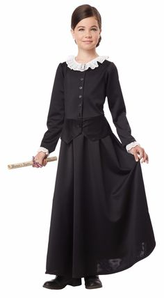 59b9b3ed85b8d Susan B. Anthony Harriet Tubman 1800's Colonial Historical Child Costume  Halloween Kids, Baby Halloween