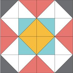 Dutch Windmill Block Pattern   This free block pattern is perfect for your next quilting project!