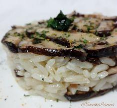Fermentazioni. Riso fritto al  miso e funghi shiitake.    http://www.senzapanna.it/2018/02/fermentazioni-riso-fritto-con-miso.html