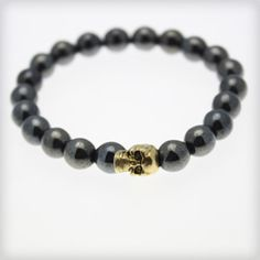 A skull bracelet adds a little edge to every ensemble