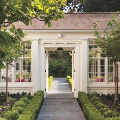 A Turn-Of-The-Century Home Flourishes Once Again - Luxe Interiors + Design Exterior, Luxe Interiors, House, Exterior Design, Breezeway, New Homes, House Tours, House Exterior, Outdoor Living