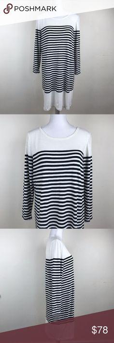"Joie White sweater dress striped pantea b Large NWOT! Measurements: shoulder to shoulder:17"" armpit to armpit:20.5"" armpit to hem:29"" total length:37"" sleeve length:23"" Joie Dresses Long Sleeve"