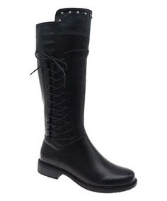 Pierre Dumas Black Side Lace-Up Barcelona Boot - Women Riding Boots, Combat Boots, Pierre Dumas, Black Side, New Today, Tall Boots, Fashion Boots, Rubber Rain Boots, Barcelona